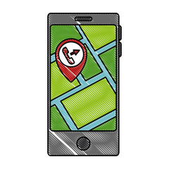 smartphone with gps app