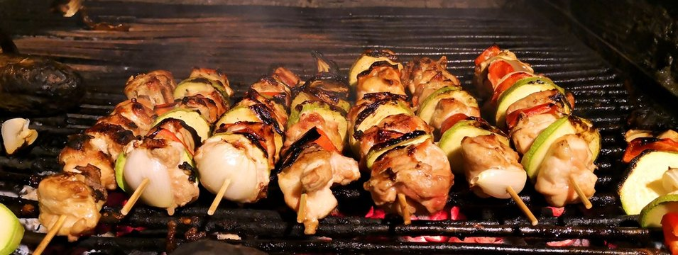 Home made barbecue: skewers