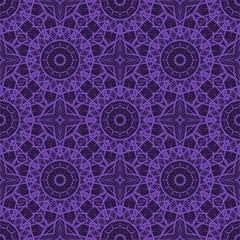 Vector illustration. pattern with floral mandala, decorative seamless ornament. design for print fabric, bandana.