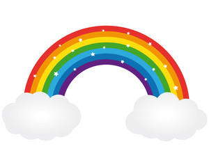 Beautiful rainbow illustration. Vector icon.