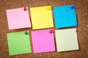 Six Blank sticky notes.