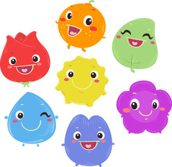 Mascots Color Characters Illustration