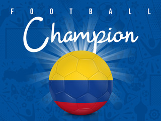 COLOMBIE - CHAMPION FOOTBALL