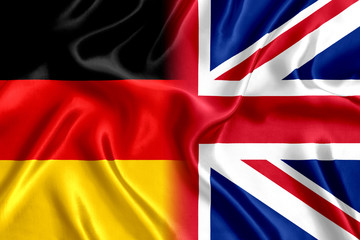 Flag Germany and UK silk