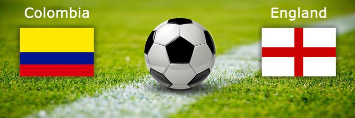 Fussball - Kolumbien gegen England