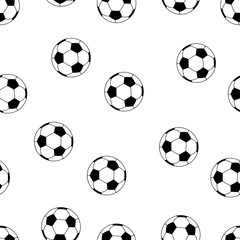 Football pattern seamless isolated