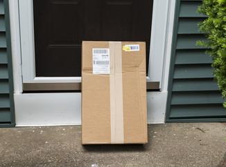 Package left at front door