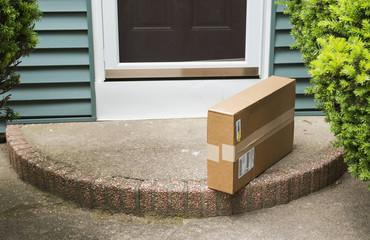Package left on stoop by front door
