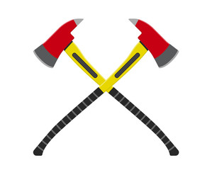 Vector illustration. Fire axes. Flat design.