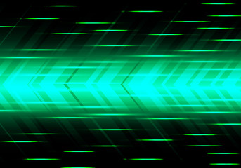 Abstract green arrow speed power technology futuristic modern background vector illustration. Wall mural