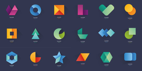 Collection of abstract blank symbols