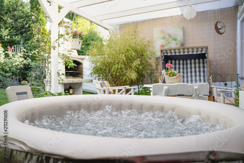 Whirlpool Im Garten Stock Photo And Royalty Free Images On Fotolia
