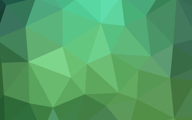 Light Green vector shining triangular layout.