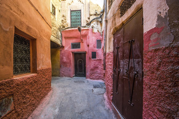 Alley in Marrakesh, the Morocco