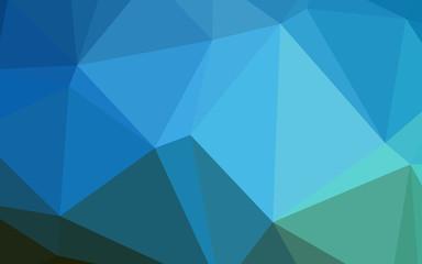 Dark BLUE vector polygon abstract layout.