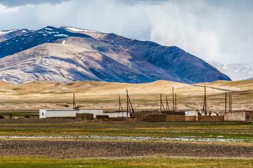 View of Alichur village in Tajikistan