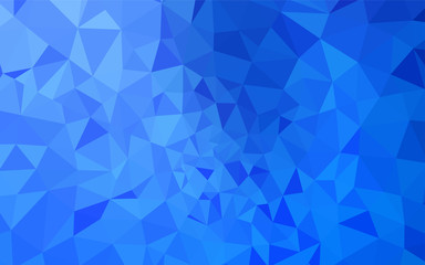 Light BLUE vector abstract polygonal background.