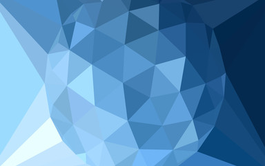 Light BLUE vector abstract mosaic pattern with a diamond.