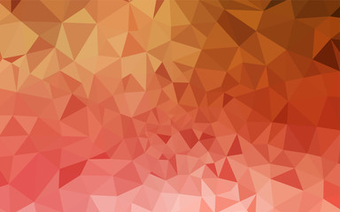 Light Red, Yellow vector polygonal pattern.