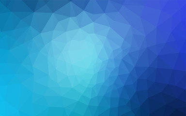 Light BLUE vector abstract mosaic pattern.