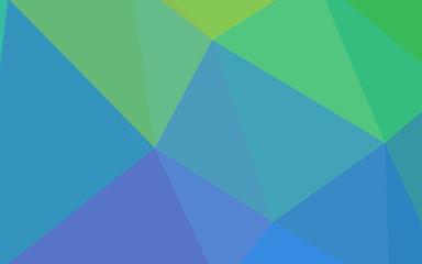 Light Blue, Green vector gradient triangles template.