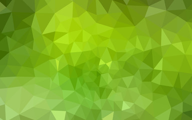 Light Green, Yellow vector low poly layout.