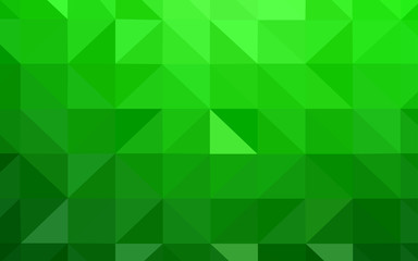 Light Green vector abstract polygonal pattern.