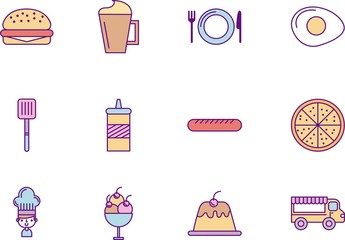 36 Fast Food Icons