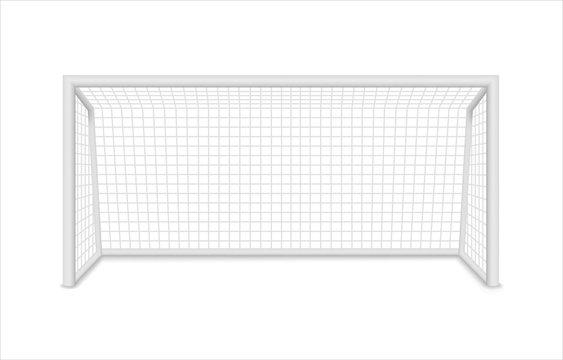 Football goal. Soccer goal. Vector