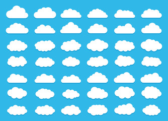 Clouds collection. Cloud icon. Vector illustration.