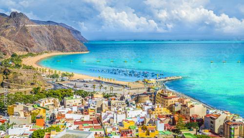Wall mural View of San Andres village and Las Teresitas beach, Tenerife, Canary Islands, Spain