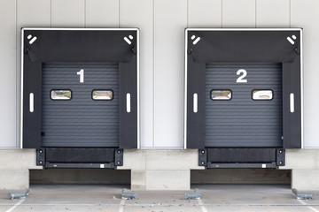 loading docks for trucks at warehouse Wall mural