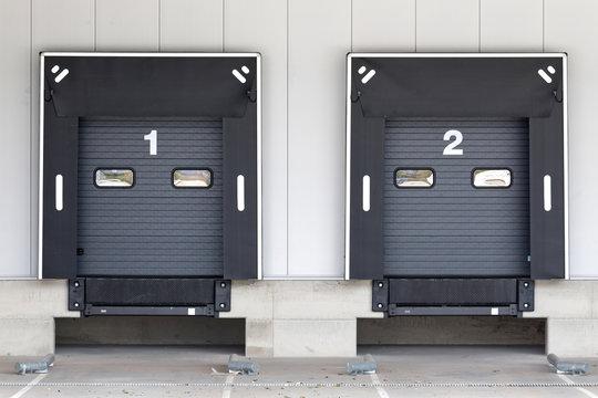 loading docks for trucks at warehouse