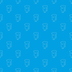 Measuring cup pattern vector seamless blue repeat for any use