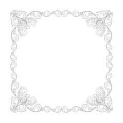 balinese frame floral