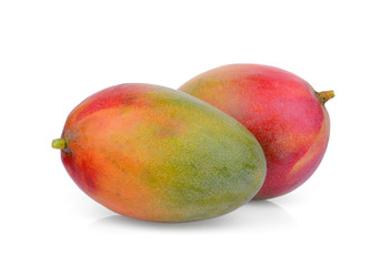 two ripe mango isolated on white background