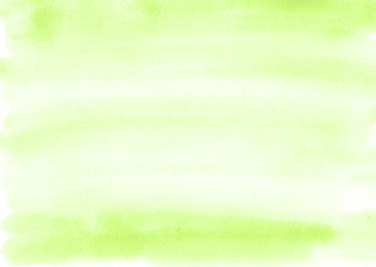Green watercolor background is almost uniform, with beautiful stripes from the brush. Excellent substrate or template for any design.