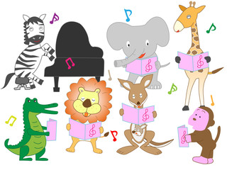 動物のコンサート。