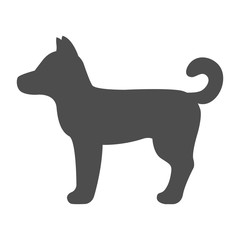 Standing dog silhouette. Vector.