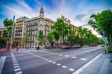 Foto auf Acrylglas Barcelona Avinguda Diagonal street in Barcelona