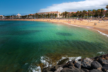 Las Americas Beach Adeje coast Beach in Tenerife.