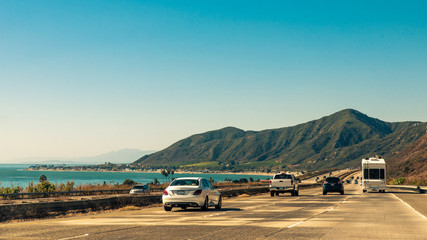 Canvas Print - Highway 1 in Kalifornien