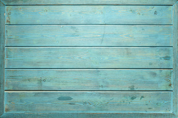 Vintage blue wood panel fine arranged as wall for interior design and exterior decoration