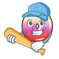 Playing baseball jelly ring candy character cartoon
