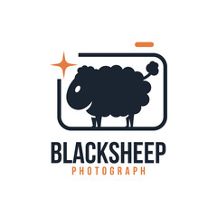 Black Sheep Photography Logo Symbol