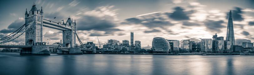 Panorama of Tower Bridge in London, UK