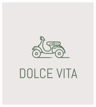 vespa et dolce vita, logo scooter
