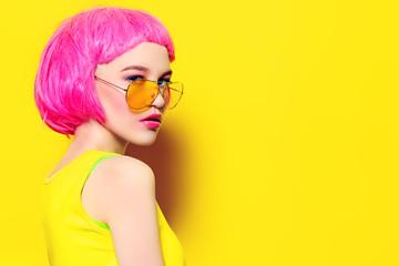 summer yellow sunglasses