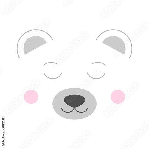 cute polar bear vector illustration isolated on white background