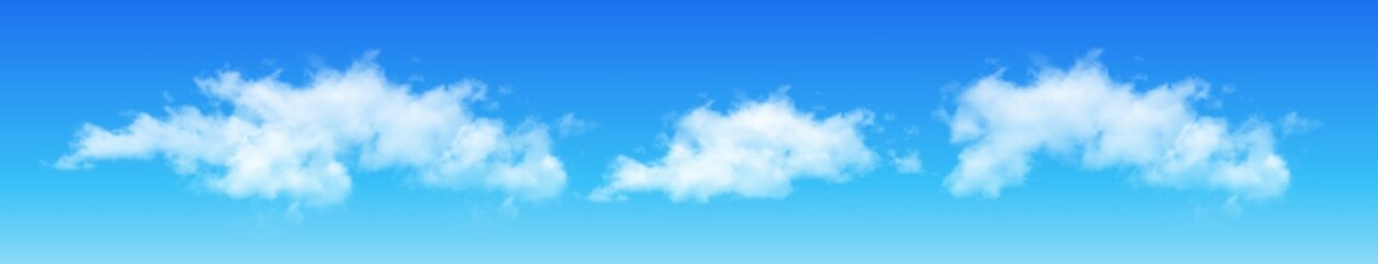 Clouds on blue sky, vector cumulus. Wall mural